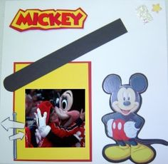 Mickey scrapbook layout