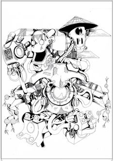 #MelicsRichardArtwork #Cyberspeakers #ink #Illustration