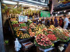 La Bogueria. Overdekte markt in het centrum van Barcelona