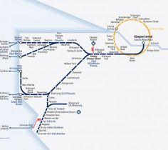 Quarter-Inch Automobile Map: Glasgow-Ayr