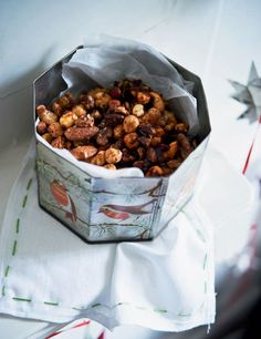 These spicy nibbles are perfect for serving with drinks at Christmas.