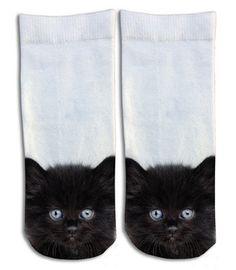 Black Kittens Barely Show Socks