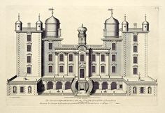 THE PALACE Drumlanrig Castle, Dumfries and Galloway, of The Dukes of Queensberry and Buccleuch Architecture Mapping, Architecture Drawings, Historical Architecture, Architecture Details, Architectural Prints, Architectural Antiques, Classic Building, Scotland Castles, Palaces