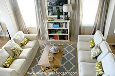 Ikea Ektorp sofas. Color use.