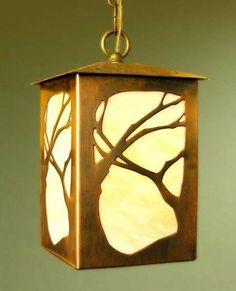 Lantern Pendant - Art Nouveau Design , James Mattson Lighting, Mission Lighting