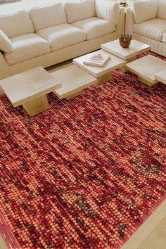 4x6 foot wool rug flame $99