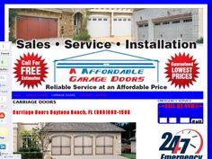 Daytona Beach Garage Doors | Garage Door Openers | Spring Repairs