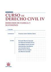 Curso de derecho civil. IV, Derechos de familia y sucesiones / Francisco Javier Sánchez Calero (coordinador). - 7ª ed.- 2015