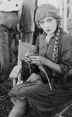 Mary Pickford on the set of Sparrows (1926)