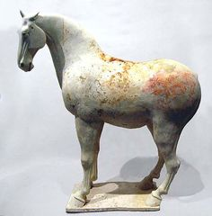 Large Horse China; Tang Dynasty 618-907 CE Earthenware