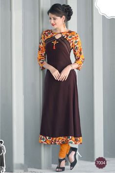 sethnic straight long kurti patterns in rayon for reselling under rs 500