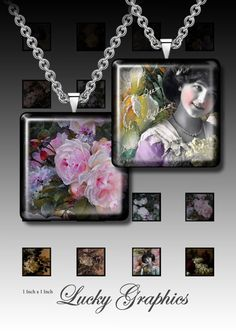 Digital collage sheet  Summer memories  15 inch by LuckyGraphics, $3.50