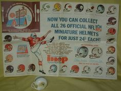 Ihop NFL placemat Vintage Restaurant Design, Nfl, Helmet, How To Memorize Things, Miniatures, Entertaining, In This Moment, Placemat, Collection