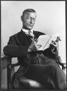 Hermann Hesse reading.