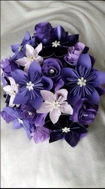 Paper flower Wedding Bouquet Beautiful by TheWoollenWhaleCo