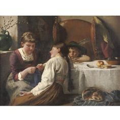 Knitting lesson, byJ Dietrich*