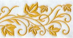 leaves embroidery designs border - Bing Images