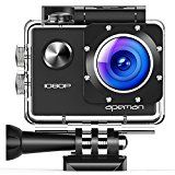 #6: APEMAN Sports Action Camera 1080P HD 12MP Waterproof Cam 170 Ultra Wide-Angle Lens With Mounting Accessories Kit for Cycling Swimming Climbing Diving #movers #shakers #amazon #electronics #photo