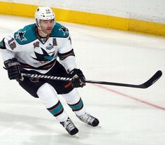 Patrick Marleau #12 of the San Jose Sharks skates during the game against the Anaheim Ducks on February 4, 2013 at Honda Center in Anaheim, California.