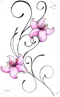 Flower tattoos brought to you by Free Tattoo Ideas - Get your Tattoo Ideas, Tattoo Designs and Tattoo Flash at FreeTattooIdeas.net