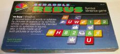 """Selchow and Righter """"Scrabble"""" Rebus game"""