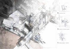 Ark Umeda: Urban Metabolism In Osaka by Nathan Jones / love the sketch fade