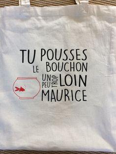 Tote bag sac shopping coton humour pub Maurice : Autres sacs par porcelanne