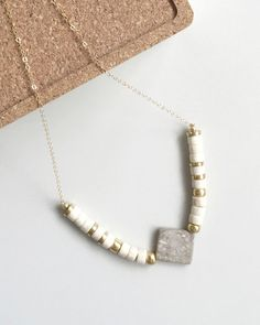 Marble Centerpiece & Riverstone Necklace