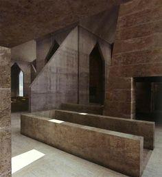 | AVB Blog | Taller de Arquitectura | Buenos Aires |: LOUIS KAHN: Sinagoga de Hurva, 1º versión