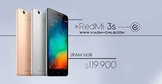 Consulta nuestra página, compra Redmi 3S 2RAM/16GB http://xiaomi-chile.com/tienda/serie-redmi/redmi-3s-2ram-16gb/ #xiaomi #xiaomichile #tablet #smartphone #android #windows #3dprinting #gaming