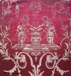 Wallpaper from Marie Antoinette's private abode at Versailles, the Petit Trianon