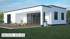 NOVA-HUIS 8 gelijkvloerse bungalow alles slaapkamer en badkamer beneden staalframebouw moderne bouw