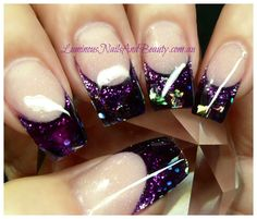 Acrylic nail designs +coast+queensland,+acrylic+nails,+gel+n French Nails Glitter, Sparkle Nails, Fancy Nails, Fabulous Nails, Gorgeous Nails, Pretty Nails, Get Nails, Love Nails, Prom Nails