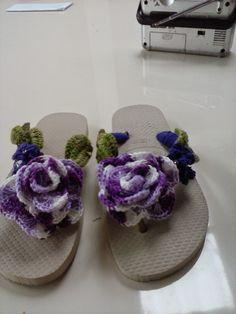 Rosartes: pap sandalha em croche.