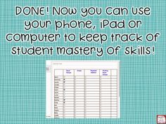 Diary of a Not So Wimpy Teacher: Mastery Checklists Using Evernote!