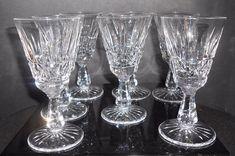 "Waterford Wine Glasses  Kylemore White Wine 5 1/2"" Set Of 7 Home Entertaining Barware Dinning"