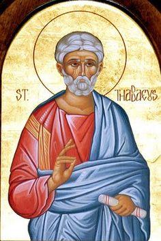 Jude - October Also named Thaddeus. One of the original 12 Apostles and patron saint of desperate causes. Catholic News, Catholic Art, Catholic Saints, Patron Saints, Spiritual Eyes, Religious Paintings, Vision Eye, God's Heart, Orthodox Icons