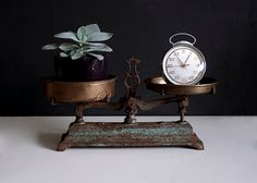 Vintage French Market Scale FREE SHIPPING WW by Europetastetic