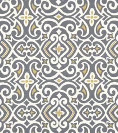 Home Decor 8''x 8'' Fabric Swatch-Robert Allen New Damask Greystone