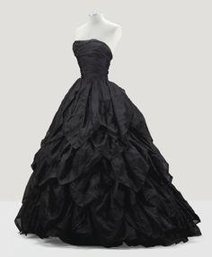 fripperiesandfobs: Jean Dessès evening dress, 1956From Sotheby's