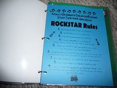 I absolutely love this rockstar themed notebook for students to keep organized!
