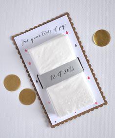 Tears of joy tissue handmade envelopes - wedding tissues - happy tears by studiojolicoeur on Etsy