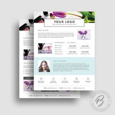 3 Page Media Kit Template 05   Ad Rate Sheet Template   Press Kit Template