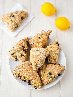 Blueberry Lemon Scones by EclecticRecipes.com #recipe