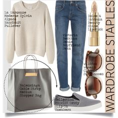 A fashion look from September 2014 featuring La Garçonne Moderne sweaters, dVb Victoria Beckham jeans and Collection Privée? sneakers. Browse and shop related …