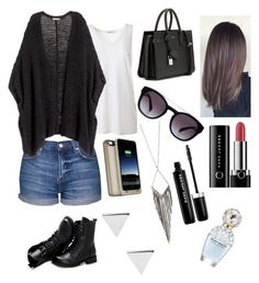 """"""""""" by sara-m-shrekgast ❤ liked on Polyvore featuring T By Alexander Wang, Topshop, H&M, Sunsteps, Yves Saint Laurent, Dolce&Gabbana, Mophie, Jules Smith, Jennifer Meyer Jewelry and Marc Jacobs"""