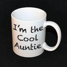 Mug  Cool Auntie by AmojoDesigns on Etsy