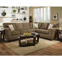 Large Sectional Sofa, Living Room Sectional Sofa In Neutral Hue Perfect For  Home | American