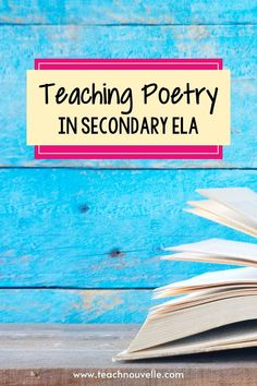These tips for teaching poetry in secondary ELA will help you create engaging lessons year-round. Whether you do a poetry unit during National Poetry Month or weave in poetry throughout the year, check out these ideas. Writing Resources, School Resources, Learning Resources, Poetry Unit, Writing Poetry, Core Learning, Found Poetry, English Lesson Plans, National Poetry Month
