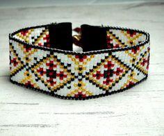Loom Beaded Bracelet Aztec Bracelet Loom by BeadWorkBySmileyKit